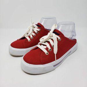 Tommy Hilfiger Red Mule Tennis Shoe